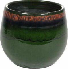 Donkergroene Plantenwinkel.nl Plantenwinkel Pot Charlotte groen ronde bloempot binnen 19 cm