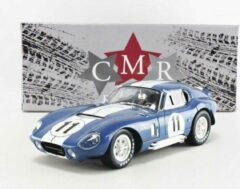 Blauwe Shelby Cobra Daytona Coupe #11 24h Le Mans 1965 - 1:18 - CMR Classic Model Replicars