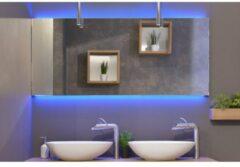 Rm & Co LoooX C-Line spiegel met RGB led-verlichting boven en onder 100x70cm dimbaar met afstandsbediening