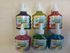 Merkloos / Sans marque Glitter glue - Glitterlijm 6 assortie