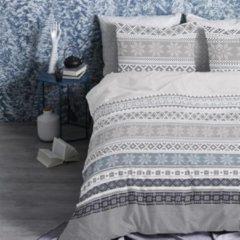 Cinderella Oslo flanel dekbedovertrek - 100% geruwde flanel-katoen - Lits-jumeaux (260x200/220 cm + 2 slopen) - White