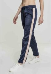 Urban Classics Dames jogging broek -S- Button Up Track Blauw