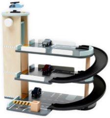 Blauwe Kids Concept Kid's Concept Houten Parkeer Garage - Aiden