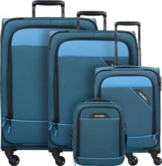 Derby 4-Rollen Kofferset 4tlg. Travelite blau
