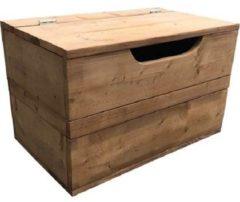 Bruine Wood4you - Speelgoedkist Kick vuren 80Bx50Hx50D cm - Opbergkist