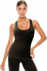 Intimidea Sporttop Active-fit Dames Polyamide/elastaan Zwart Maat S/m