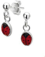Rode The Kids Jewelry Collection Oorhangers Lieveheersbeestje - Zilver