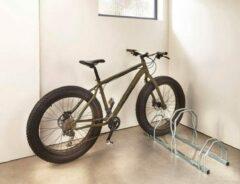 """Zilveren Mottez - """"Fat bike"""" fietsenrek - fietsrek verstelbaar (3 fietsen)"""
