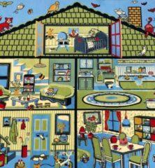 Sens Kids Rugs Poppenhuis kindervloerkleed - kindertapijt - 135 x 200 cm - wasbaar - zacht - duurzame kwaliteit - speelgoed