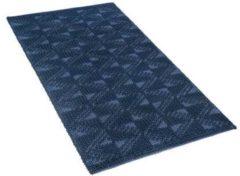 Beliani Vloerkleed marineblauw 80 x 150 cm laagpolig SAVRAN
