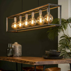 LifestyleFurn Hanglamp 'Janice' Oud zilver, 6-lamps