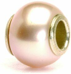 Trollbeads bedel zilver Roze parel TAGBE-00087