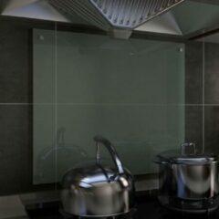 VidaXL Spatscherm keuken 70x60 cm gehard glas wit