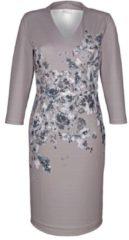 Kleid Alba Moda Grau/Blau/Weiß