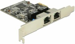 Zilveren Delock PCI Express Karte - 2 x Gigabit LAN