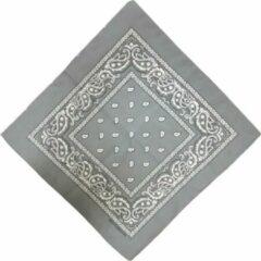 Fako Fashion® - Bandana - Hoofddoek - Mondbescherming - Zakdoek - Paisley - Grijs