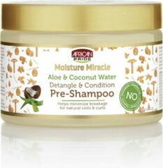 African Pride Moisture Miracle Aloe & Coconut Water Detangle & Condition Pre-Shampoo 340gr