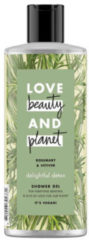 Love Beauty and Planet Rosemary & Vetiver delightful detox douchegel - 500 ml