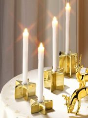 4er Set Leuchter in Sternform gold