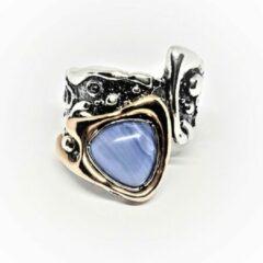 Marutti Zilveren ring met blauw Agaat