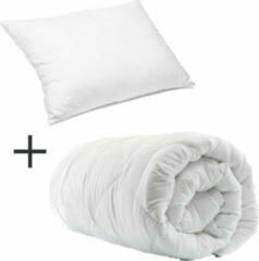 Witte Homéé® Select Duopack - 1x Hotel dekbed 3dTEX enkel 400g. 140x200 cm plus 1x hotel hoofdkussen classic 60x70 cm