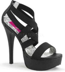 Pleaser Pink Label Hoge hakken -45 Shoes- TEEZE-47W Zwart