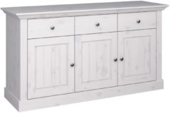 DS Style Dressoir Monaco 145 cm breed in wit whitewash