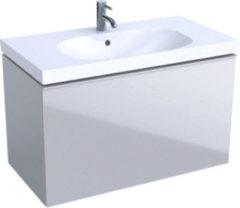 Geberit Acanto wastafelonderbouwkast m. 1 lade 89x53.5x47.5cm incl. sifon mat zandgrijs 500612JL2 500.612.jl.2
