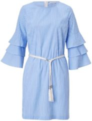 CONLEYS BLUE Kleid, mit Volantärmeln, Modisch, Baumwolle