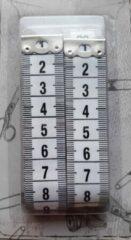 Merkloos / Sans marque Blister 2 meetlinten wit - 2x centimeter 150 cm - beide zijden cm aanduiding