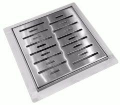 """Zilveren Best-design Doucheput """"n-square"""" met-flens 15x15x7.7cm"""