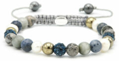 Karma Spiral Pearls Rock xs (blue crystal) 83654 (Lengte: 17.50-19.00 cm)
