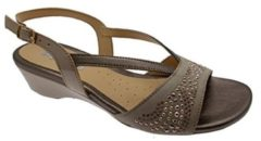 08743 NERO Scarpa donna Melluso sandalo zeppa bassa, 35