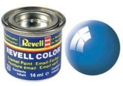 Lichtblauwe Revell #50 Light Blue - Gloss - RAL5012 - Enamel - 14ml Verf potje