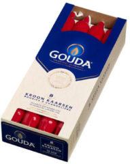 Gouda Kroonkaars rood 240/24 doos a 8 stuks Kerstartikelen