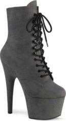 Pleaser Enkellaars -37 Shoes- ADORE-1020FS US 7 Grijs