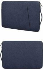 Donkerblauwe Ntech MacBook Air 13,3 2018 / 2019 / 2020 Hoes - Sleeve Spatwater proof hoesje met handvat & ruimte voor accessoires Donker Blauw