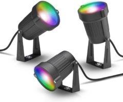 Transparante Innr Lighting Innr slimme buitenverlichting - Werkt met Philips Hue* - Smart LED spot color outdoor - Zigbee - kit met 3 spots