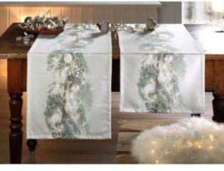 Tischläufer 'Himesh' Apelt silber