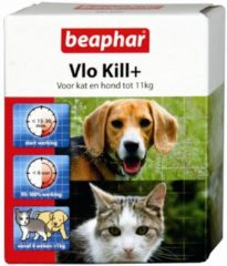 Beaphar Vlo Kill Hond en Kat tot 11kg - Vlooien- en tekenmiddel - 10 x 1,4 x 6,4 - 6stuks