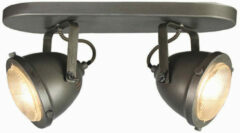 LABEL51 - LED Spot Moto 2-Lichts 35x12x16,3 cm Burned Steel Metaal