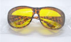 Benson Nachtbril dames | Overzetbril | Mistbril | Autobril | Bril met gele glazen | Nachtzicht | Unisex