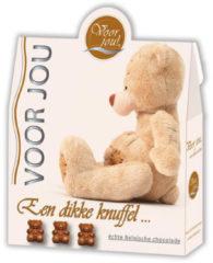 Voor Jou! Cadeau doos trendy beertjes dikke knuffel 100 Gram