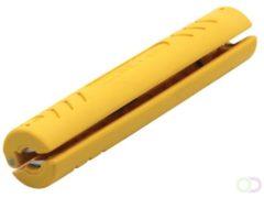 Gele Coax Kabelstripper (Jokari 30010)