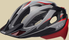 KED Spiri Two Fahrradhelm Kopfumfang L 55-61 cm red black matt