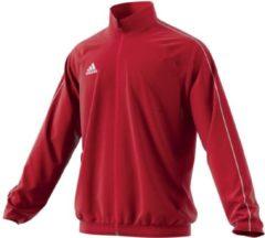 Adidas Core18 Trainingsjas Heren Sportjas - Maat L - Mannen - rood