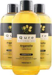 Qure Natural Oil Argan Olie | 100% Puur & Onbewerkt (100ml) | Arganolie voor Haar, Gezicht en Lichaam