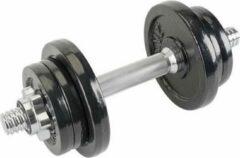 Zwarte Kaytan Sports - Dumbbell Set – Gewichten – Halter Set – 6 halterschijven – 2 x 2 kg – 4 x 1 kg – 1 x halter 1.8 kg – Inclusief Trainingshandleiding – (10.3 kg)