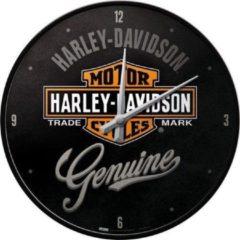 Zwarte Harley-Davidson Genuine Wandklok