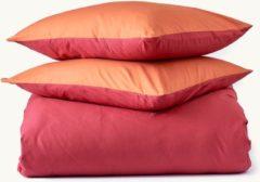 Van Morgen – Merzouga Moon - Dekbedovertrek set - 100% Percal katoen – Oranje / rood – 240 x 220 cm